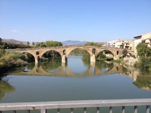 12th (?) century bridge at  Puente la Reina