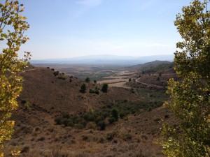 Looking down onto Logroño