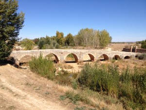 13th Century Roman bridge found off the beaten track, purely by chance, in Villasandino where I stopped for a snack.