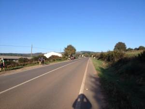 Peregrinos walking the last 100 km to Santiago de Compostela