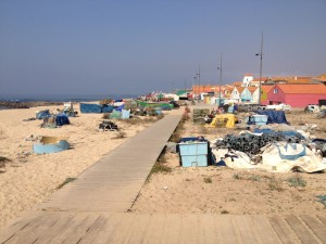 Matosinhos beach where we ate the mornings catch.
